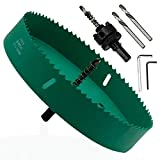 LICTOP 190mm / 7.5 Inch Hole Saw with Heavy Duty Arbor,Bi-Metal Hole Saw Drill Bits Smooth and Fast Cutting for Can Cornhole Board Metal Plastic Fiberboard