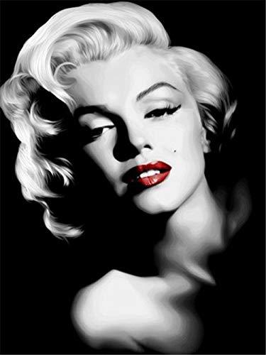 wgkgh Puzzles Rompecabezas Adultos Niños Wooden 1000 Piezas Puzzles Collection Puzzles Cada Pieza Es Unica Tecnología encajan Perfectamente Jigsaw Puzzles Marilyn Monroe 50CMX75CM