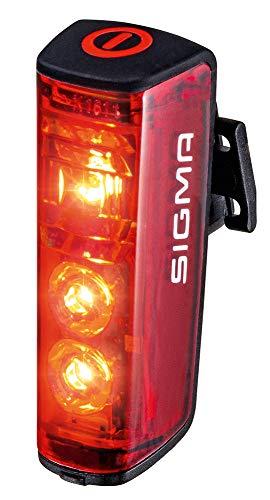 SIGMA SPORT - BLAZE | Faro de bicicleta LED | Faro trasero con batería y con luz de freno que cumple la normativa alemana de tráfico