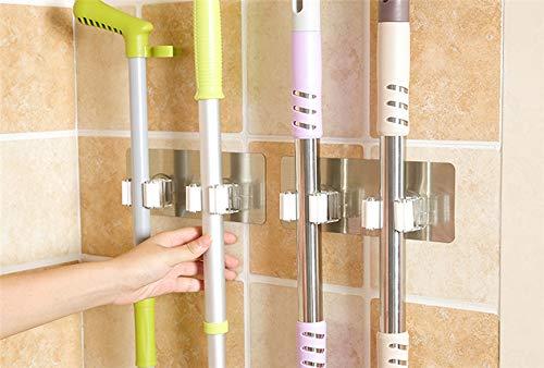 SISHUINIANHUA Muur Huishoudster Muur Gemonteerd Mop Organizer Houder PP+PVC Borstel Bezem Hanger Opslag Rack Keuken Gereedschap Hangende Pijp Haken