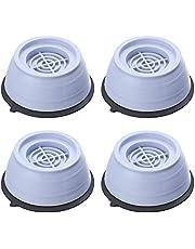 Yusat Almohadillas antivibratorias, lavadoras y secadoras, 4 unidades antivibración y ruido para lavadora, juegos de almohadillas para nevera, muebles para el hogar