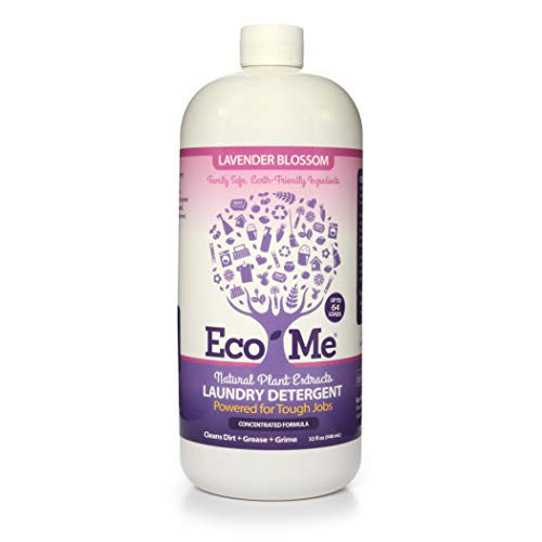 Eco Me Natural Non-Toxic Concentrated Liquid Laundry Detergent, Healthy Lavender Blossom Scent, 32...