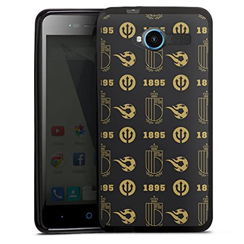 DeinDesign Silikon Hülle kompatibel mit ZTE Blade L3 Hülle schwarz Handyhülle RBFA Belgien Offizielles Lizenzprodukt