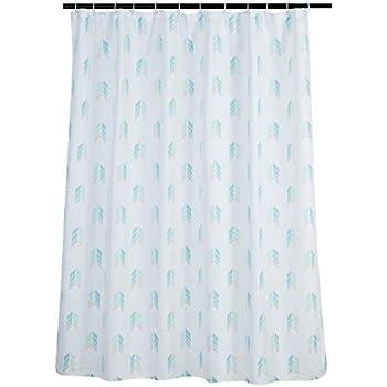 Amazon Basics Bathroom Shower Curtain - Aqua Arrows 72 Inch