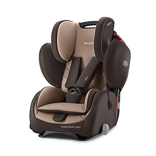 Recaro Kids, Young Sport Hero Kindersitz, Auto Kindersitz (9-36 kg), Gruppe 1-2-3, Komfort und Sicherheit, Universeller Einbau, Verstellbar, Patent Hero Sicherheitssystem, Dakar Sand