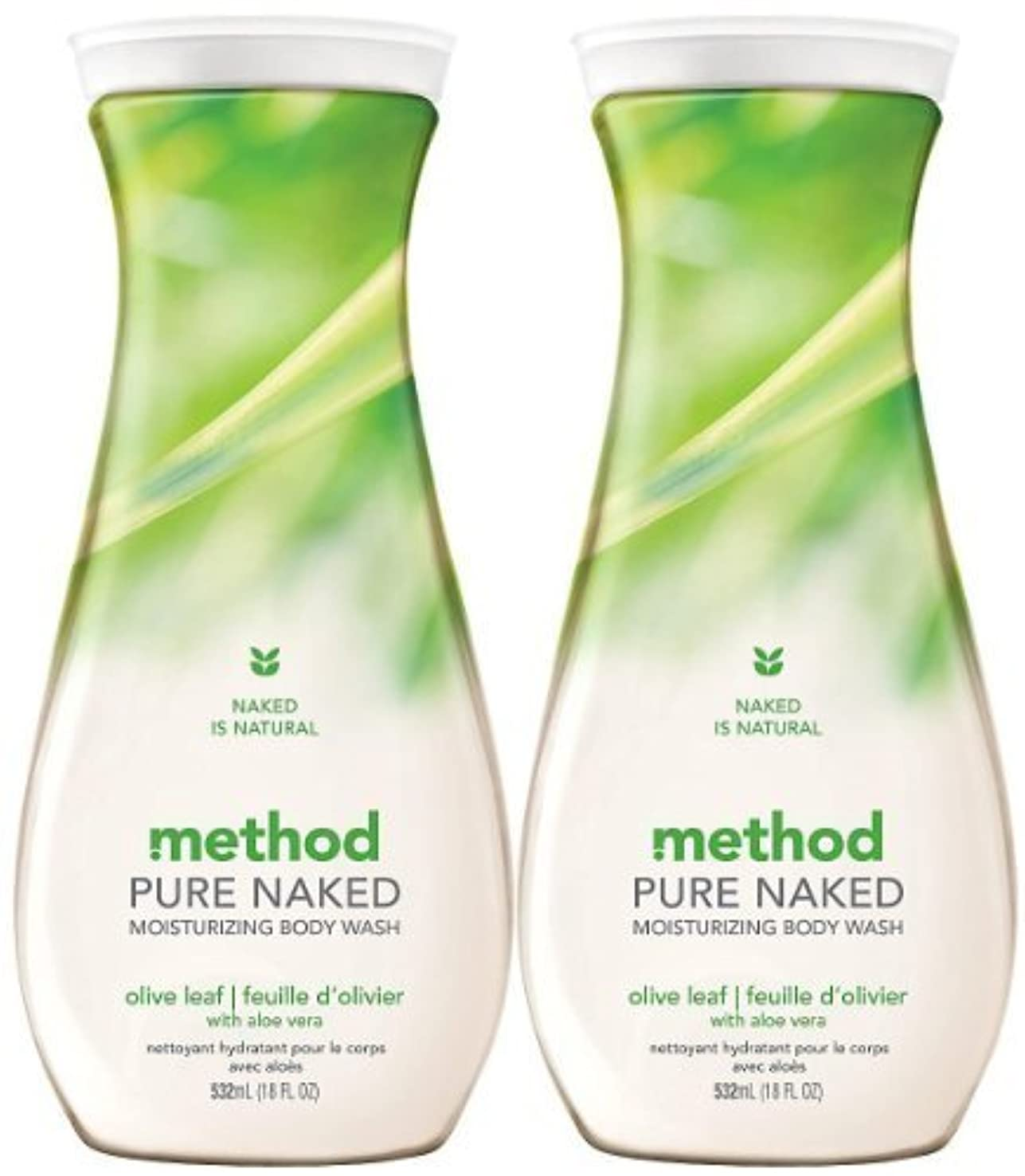 捨てる適度に祭りMethod Moisturizing Body Wash, Olive Leaf, 18 oz, 2 pk by Method [並行輸入品]