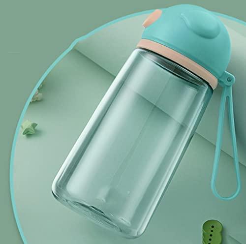 BARLEY Botella de Agua de 16.2oz, Botella pequeña portátil, Deportes de Verano de Estudiantes, Tres Colores Que es BPA -Libre (Color : Green)