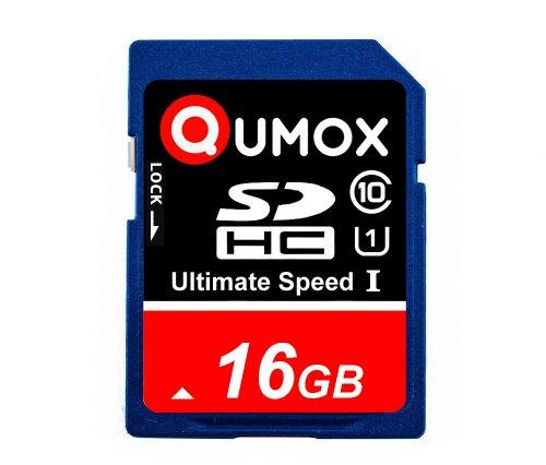 QUMOX 16GB SDHC 16GB SDHC Class 10 UHS-I-Speicherkarte Secure Digital High Speed Schreibgeschwindigkeit 15MB / s Lesegeschwindigkeit bis zu 40MB / s