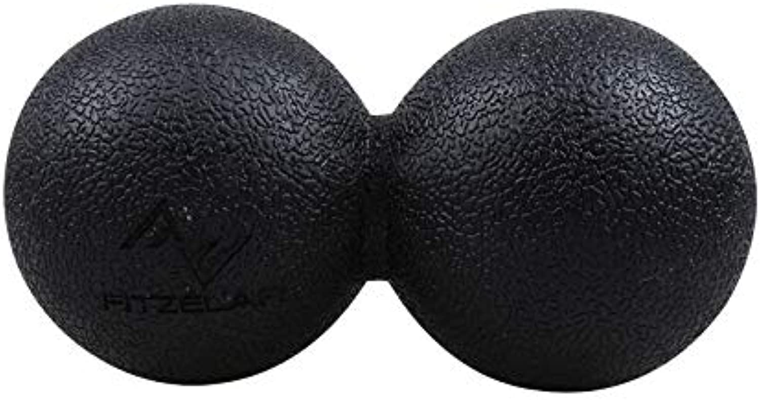 Massage Ball Peanut Ball Double Ball Fitness Siam Fascia Relaxation Healing, 2 Black