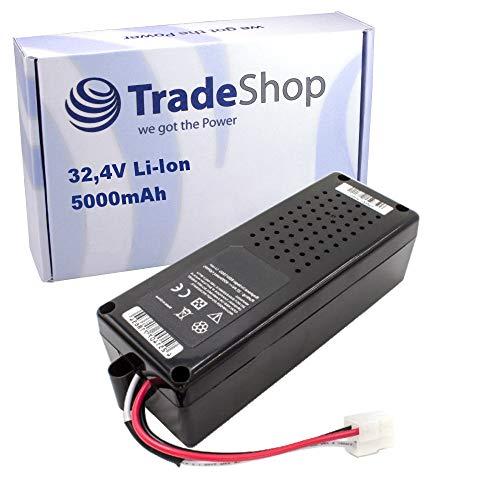 Hochleistungs Li-Ion Akku für Bosch Indego 800, 850, 1000, 1100 Connect, 1200 Connect, 1300, 1999, 3600, 10C, 13C ersetzt F016104299 / 5000mAh 32,4V