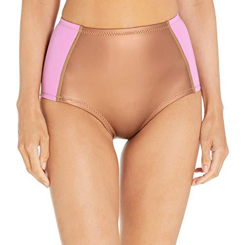 Cynthia Rowley Women's Fiber-lite High-Waist Bikini Bottom, Lavender, Medium