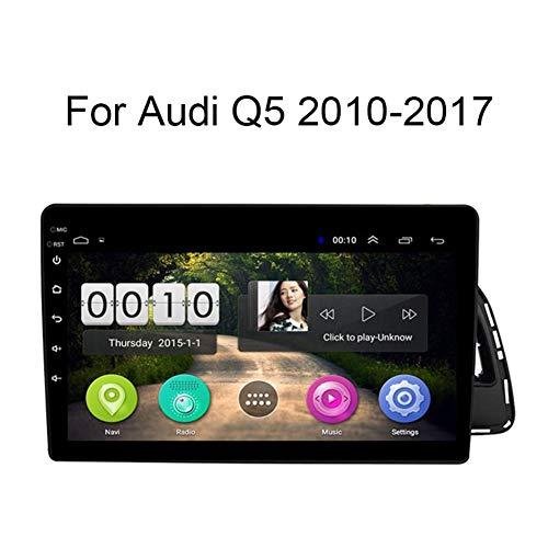 Stavr Car Stereo Android 8.1 Car Radio de navegación GPS para Audi Q5 2010-2017 9 Pulgada Pantalla LCD Táctil USB WLAN 4.0 Bluetooth Llamadas Manos Libres,4G+WiFi:1+16G