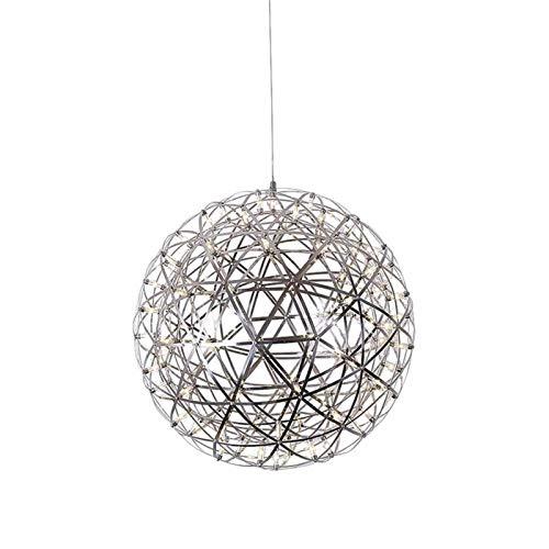 Luz colgante LED, Lámpara de la pelota de la bola de Lgnición Moderna, Luz de techo de la decoración del metal de los fuegos artificiales de 12W para la cocina de la isla de la cocina Cafe Bar Comedor