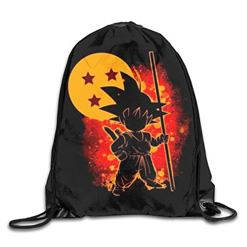 Dragon-Ball Monkey King - Mochila con cordón impreso, mochila deportiva, gimnasio, bolsa de almacenamiento