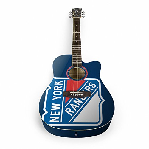 Woodrow Guitar by The Sports Vault NHL New York Rangers Acoustic Guitar