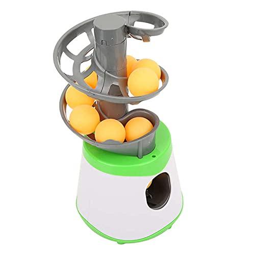 ZMIN Mini Ping Pong Ball Automatischer Launcher-Trainingsmaschine Pitching-Serviermaschine für Kinder Innen- oder Außennutzung, großes Geschenk für Zuhause,Grün