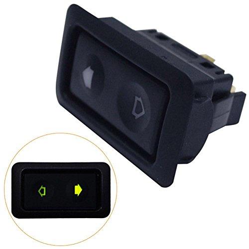 1 Teil/beutel Universal 6-pin Auto Elektrische Fensterheber Schalter Eingebaute Grüne Display Licht 12-24 V (50x30,8x29mm / 1,97x1,21x1,41 zoll)