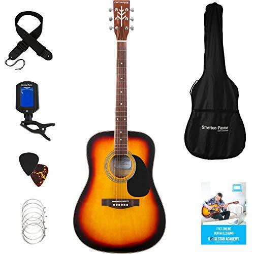 Stretton Payne Dreadnought - Guitarra acústica (tamaño