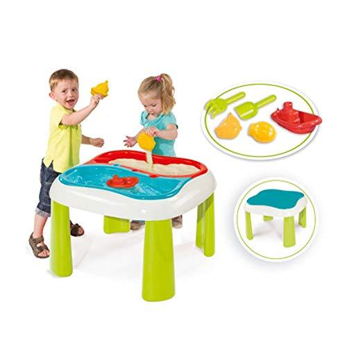 Smoby - Table Sable et Eau - Jeu Plein Air Enfant - 2 Bacs Amovibles + Couvercles - Accessoires de Plage - 840107
