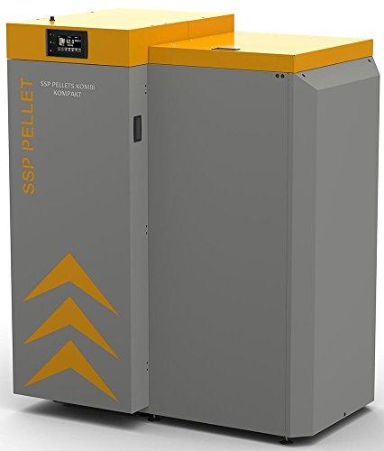 SSP Pellet Hervidor combinado compacto Lambda 16–24kW calentador de pellets SSP de madera Nevera 16kw