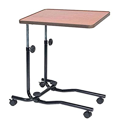 NRS Healthcare M15691 Portable Overbed/Chair Table - Tilting, Adjustable and Wheeled