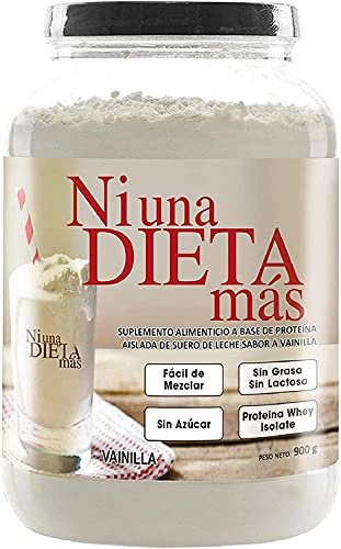 NI UNA DIETA MÁS - Reduce el Abdomen con Proteína para Quitar la Ansiedad por Comer (para Niños y Adultos) sabor Vainilla