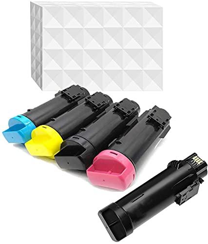 YOUTOP 5er-Pack Kompatible Toner als Ersatz für Xerox Phaser 6510 WorkCentre 6515 Tonerpatrone 6515DN 6515DNI 6515DNM 6515N 6510N 6510DN 6510DNI 6510DNM 5.5KX2/4.3K Seiten