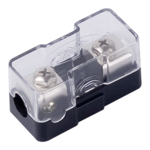 Xscorpion CMANL48P Compact Platinum Mini ANL Inline Fuse Holder with 4/8 Gauge Inputs and Outputs
