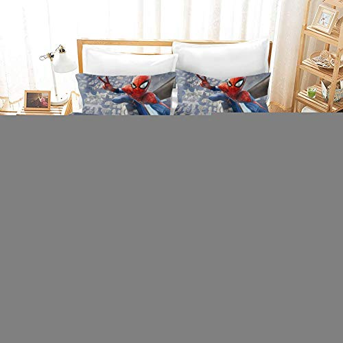 695 Duvet Cover Sets 3D Spider-Man: Homecoming Printing Child Adult Bedding Set 100% Polyester Gift Duvet Cover 3 Pieces With 2 Pillowcases D-GB SuperKing102*87'(260 * 220cm)