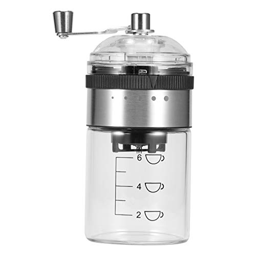 YAOTAOsm Portable Manual Coffee Grinder Mill Machine with 5 Precise Setting for Home Office Use