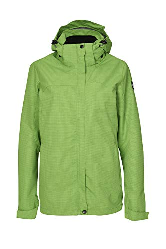Killtec Damen Inkele Regenjacke Mit Abzippbarer Kapuze, grasgrün, 50
