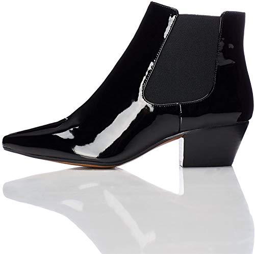 find. Damen Western-Stiefel in Lackleder-Optik, Schwarz (Black), 37 EU