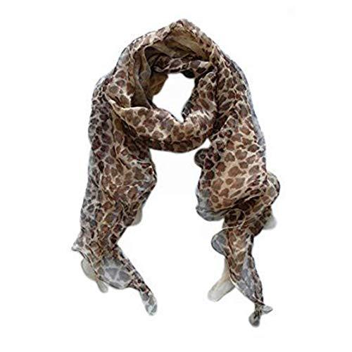 LIDA LYDI Doppel Chiffon Schal 100% Seide, 200cm x 45cm, Farbe Schokolade Braun, Beige etc.