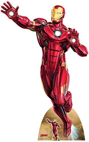 US-Way e.K. Expositor de cartón Iron Man Take Off aprox. 200 cm, figura expositora de cine, figura de cartón, tamaño real