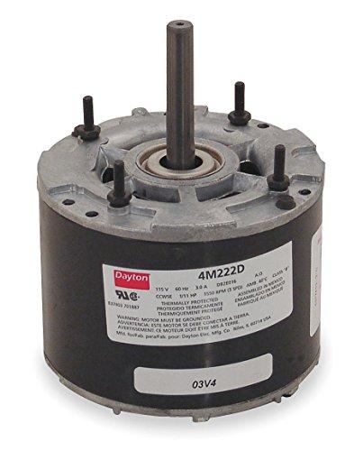 Dayton 4M222 HVAC Motor, 1/11 hp, 1550 RPM, 115V