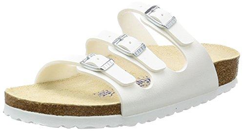 Birkenstock Florida , Chaussures femme, Blanc (54063_Weiß) - 42 EU