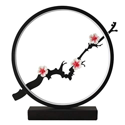 Estilo chino de noche Lámparas de mesa Eye Care 12W LED 3 Cambio de color tabla del escritorio de la lámpara romántica del flor del ciruelo de la lámpara luz de la noche de los dormitorios, salas de e
