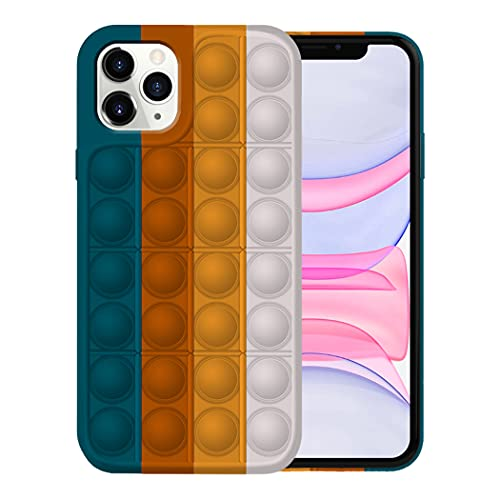 Fidget Toy Funda para iPhone 11/11 Pro Apple,Fidget Toy Pack iPhone 11/11 Pro Funda Silicona Antigolpes Pop It Fidget Toys Set Case (iPhone 11 Pro, 6)