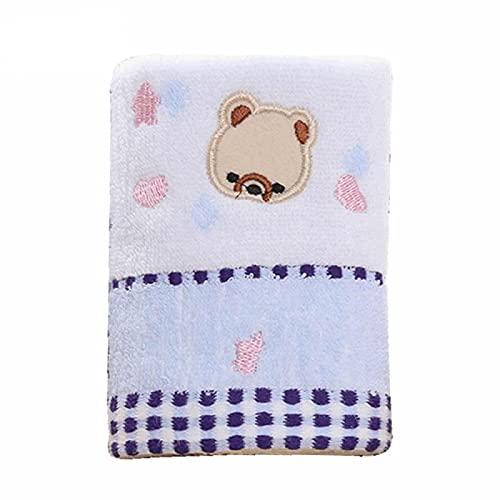Cara Cloth25*50Cm Algodón Puro Toalla De Bebé Oso De Dibujos Animados Toalla De Bebé Azul25*50Cm