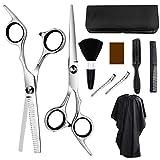 Professional Hair Cutting Scissors Set Hairdressing Scissors Kit,Self Haircut Barber Salon Home Shear Kit for Men and Women(10Pcs)