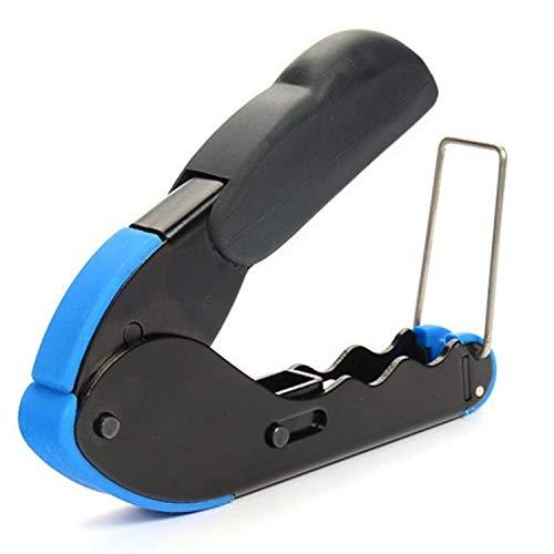 H.Y.BBYH Tijeras Alicates de prensado de Red Cable coaxial Alicates de compresión para el Campo de Audio y Video de televisión por Cable Herramientas mecanicas