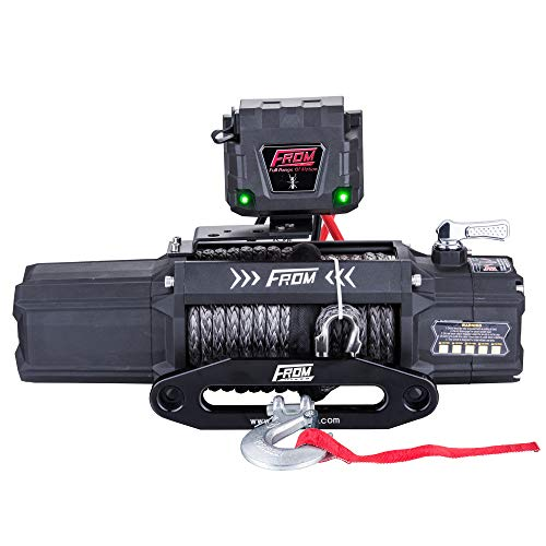 FROM ANT Series Electric Winch 6.0HP 12V 12500lbs Utility Winch with Synthetic Rope FA12.5S