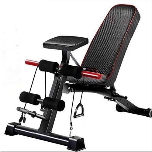 DSHUJC Banc de Musculation réglable, Tabouret Fly Bird, pour l'exercice Complet du Corps Dumbbell Stool Banc de Fitness Pliable Multifonctionnel, pour la Musculation à Domicile