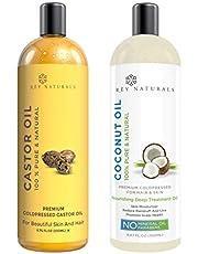 Rey Naturals ColdPressed 100 Pure Castor Oil Coconut Oil
