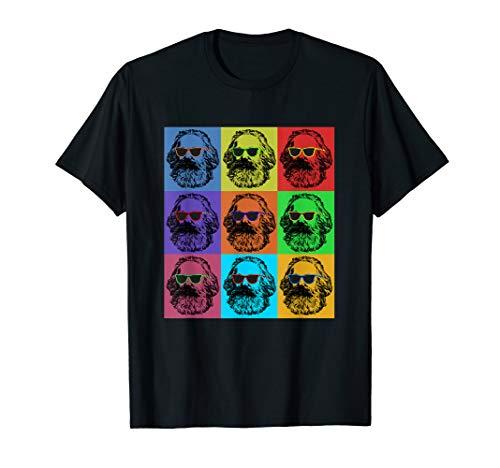 Karl Marx Pop Art, Porträt Revolutioniere, Retro Vintage T-Shirt