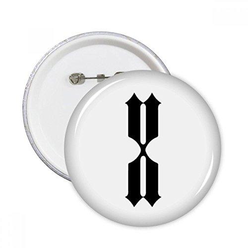 DIYthinker Romeinse cijfers Tien in zwart Silhouette ronde pinnen badge knop kleding decoratie cadeau 5 stks L Multi kleuren