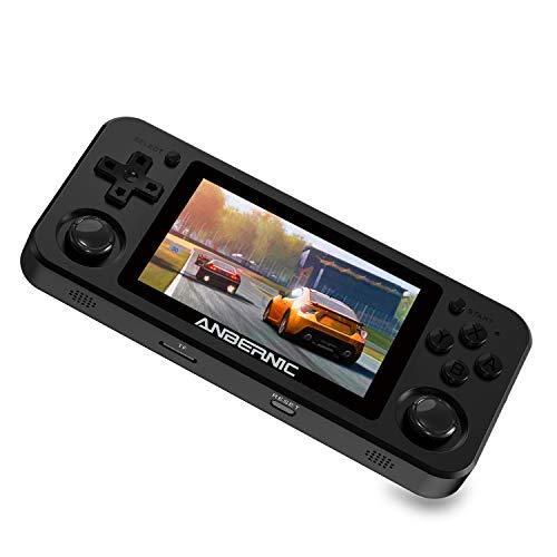 Anbernic RG351M Consoles de Jeux Portables Fonction WiFi , Console de Jeux Retro Open Linux Source System , 3.5 Pouces IPS Batterie 3500mAh avec 64G TF Carte 2500 Jeux Soutien PSP / PS1 / N64 / NDS