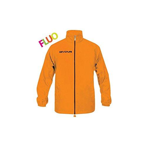 givova RJ001, Giacca Impermeabile Unisex – Adulto, Arancio Fluo, M