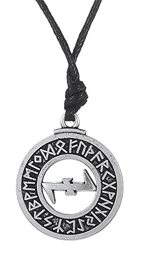 Dawapara Pagan Wolfsangel Protection Symbol Elder Futhark Runes Pendant...
