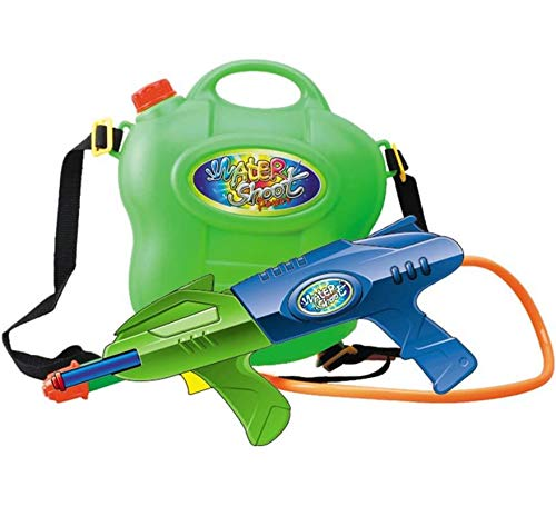 Creaciones Llopis- Pistola Agua + DEPOSITO CM. Bolsa Carton 8422802065612 Juguetes Que salpican, Color (Multicolor) (6561)